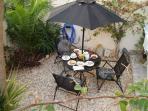 Breakfast in the garden....