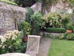 peaceful secluded walled garden