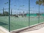 The Annabel Croft Tennis Academy... about a 5 minute walk from the villa