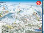 small-scala map above Oppdals ski hills.