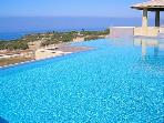 The infinity pool at the Spa... about 6 minutes walk away