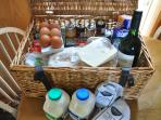 On arrival your welcome hamper with everything you need. Special occasion hampers on request.