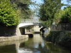 The Kennet & Avon Canal at Sydney Gardens (our local park). Just a 2 minute walk away.