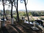 Sculpture garden in our woodlands and great Provence countryside view