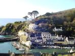 Polperro - just over 1 mile away - a picturesque harbour village with plenty of pubs and restuarants