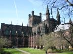 The stunning Chester Cathedral is only five minutes walk away