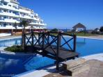 Vue piscine tropicale