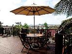 Great for Sun downers on your 60ft wooden deck or laydown in the hammock and see the sun go down.