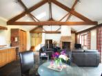 Vaulted living area from 1800's - underfloor heating, WiFi and Smart TV's  modern addition