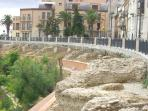 Roman ruins by town wall (5 mins walk)