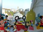 A view from the kids' room. In the far back (2Km) the entrance of the Disney Parks (2mn by train)