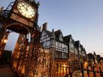 The famous Chester Eastgate Clock is only five minutes walk away