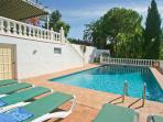 10 x 5 meters pool, totally private, not overlooked.  Sun beds plus pool towels.