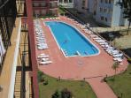 The swimmingpool, view from the balcony