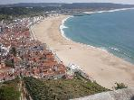 View from Sitio over Nazare (Villa on hillside in background)