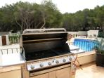 Large American BBQ on Terrace for dining in the evenings