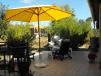 Back Patio, with BBQ also larger side terrace for parties!!