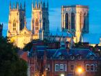 York Minster - easy to reach by rail or road