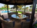 outdoor gazebo and bbq