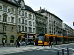 In the neighbourhood: this yellow is 4/6 tram, which is the most important and nonstop tram line.