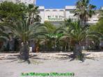 Vista del duplex desde  la playa de  El Pedruchillo ( Mar  Menor)