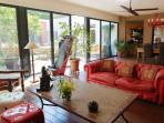 The Sunny Living Room is about 90 M²