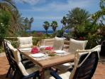 The terrace with beautiful sight to the Caribbean Sea
