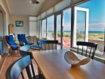 Panoramic Views of Beach and Sea from Living room