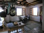 Inside house to dining room