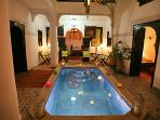 Patio and pool Riad Eloise Marrakech