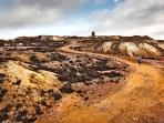 Parys Mountain, a short 5 minute drive to this beautiful copper mine from Plas Eilian Holiday Home