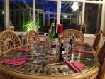 Here is our beautiful conservatory seating area. easily fits 6 - 8 people, perfect for socialising