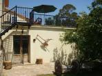 Barn entrance, patio, sun terrace