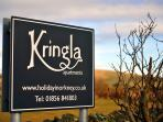 Kringla apartments sign