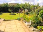 Large secure garden with Fishpond