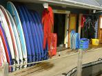 Learn to surf, or hire your equipment - North Devon Surf School is right on the beach