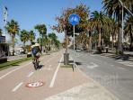 Sea side cycle lane in Alghero