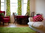 This lovely quirky musicians apartment is just what you need to feel at home.