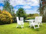 Enjoy a glass of wine or barbeque in your own private garden