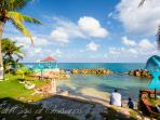 private beach - with breathtaking views of the ocean and beyond