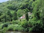 Riversdale Lodge as viewed across the River Wye from Symonds Yat East