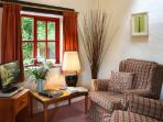 Warm soft interiors, with a spot of badger watching from your window