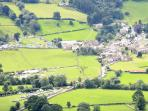 View of Dent from Rise Hill, Western Dales & less than 25 miles from Windermere & the lakes