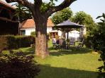 Join us for a cool drink in our 'beer garden'