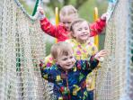 The children's playpark will keep the kids entertained