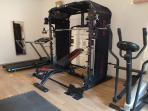 The gym is available for all guests to use