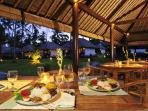 Tasty Balinese and European food at he restaurant.