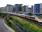 Imperial Wharf Station 2 minutes walk away, easy access to the London subway.