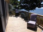 New deck with BBQ area and recliners