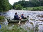 Canoe on the River Wye